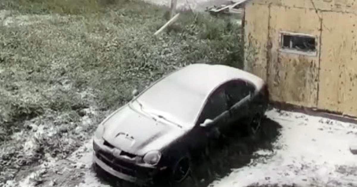De la neige sur cette ville du Québec en plein mois de juin !