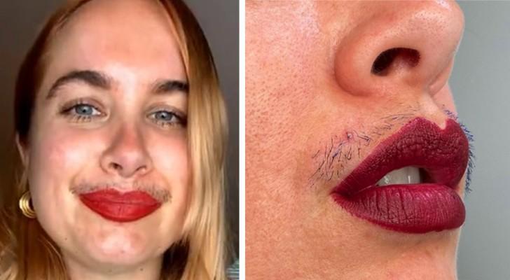 Elle accentue sa moustache avec du mascara et défie toutes les normes de beauté : 'C'est normal d'être poilue'
