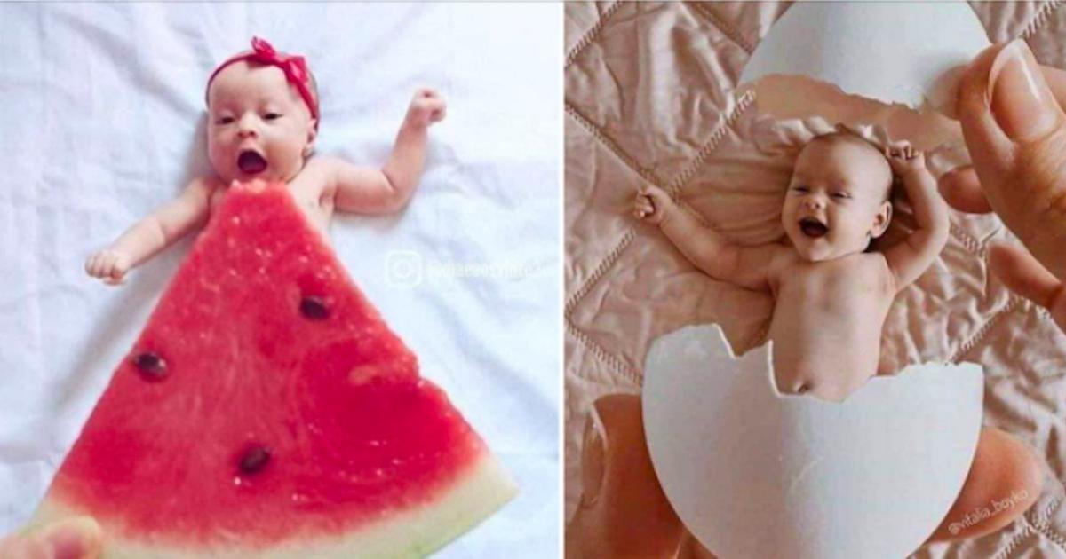 25 idées pour un shooting photo original avec bébé