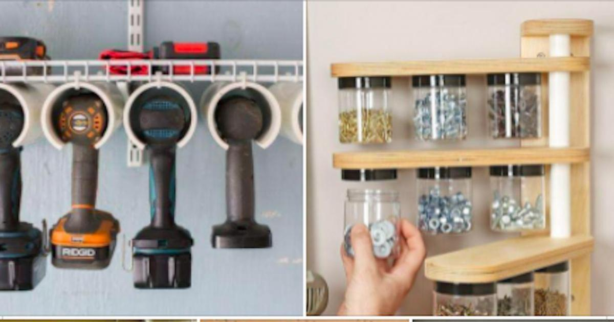 14 idées de rangements DIY pour le garage ou l'atelier