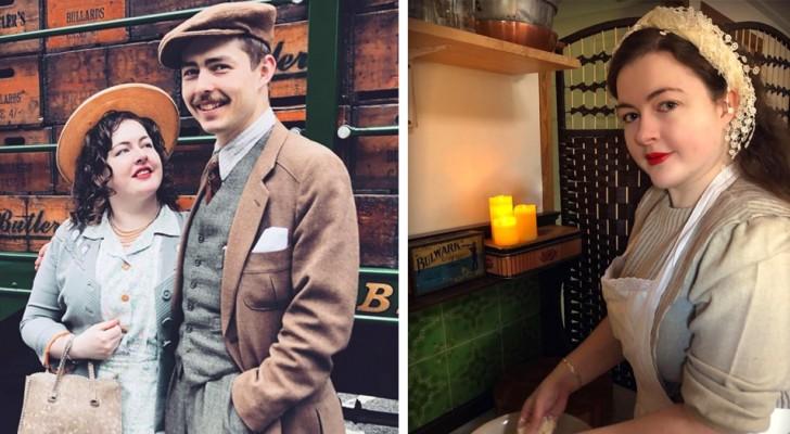 Ce jeune couple de fiancés s'habille et vit comme s'il était encore dans les années 1930