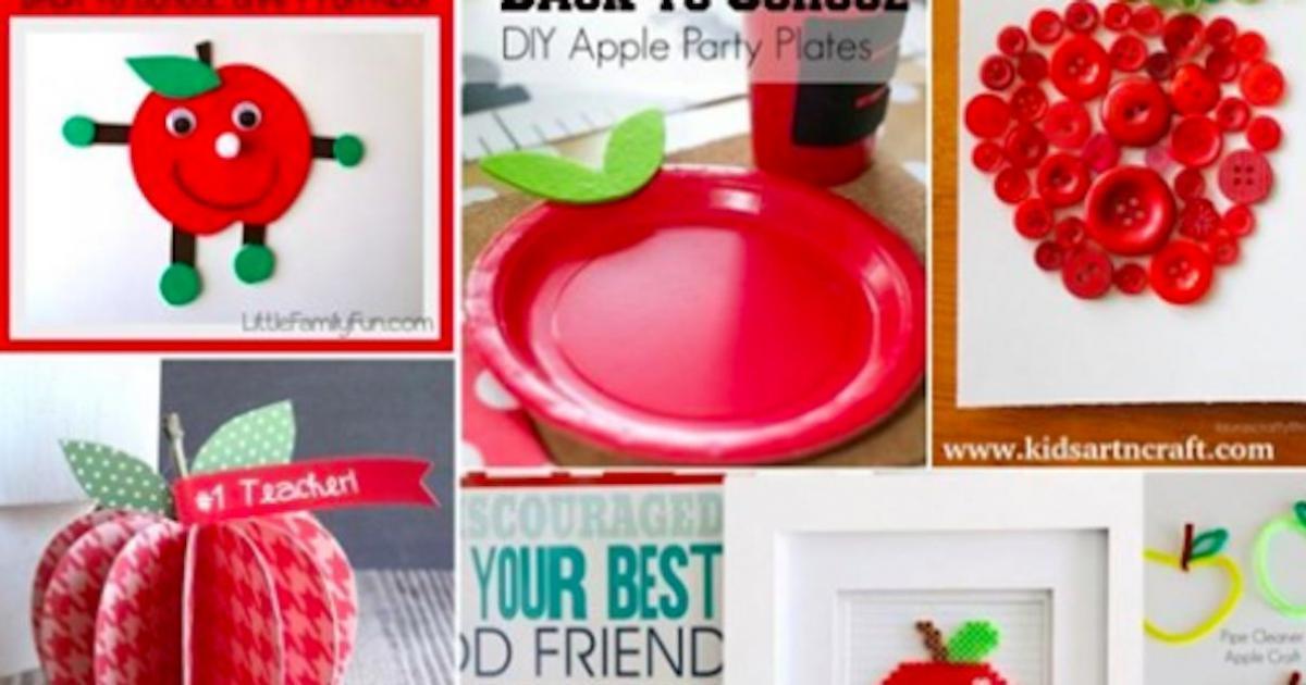 12 chouettes bricolages de pommes