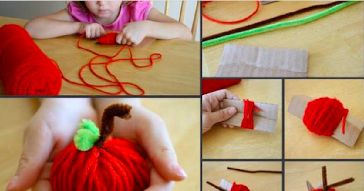 Petit bricolage d'automne: comment faire des pommes en fils de laine