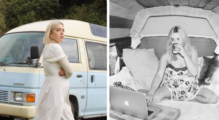 Elle vit dans une camionnette pour éviter de payer un loyer et découvre qu'elle économise plus de 13 000 € par an