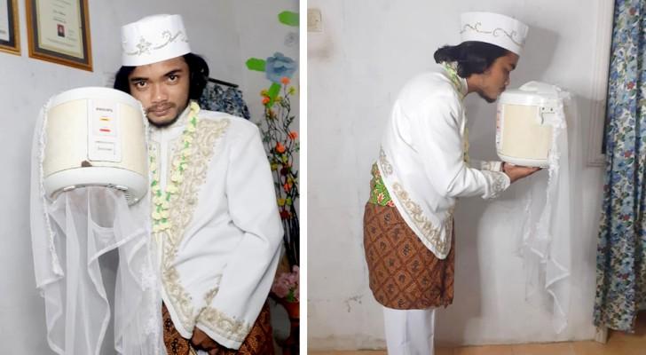 Il épouse son cuiseur de riz et divorce après seulement 4 jours : 'Aucun partenaire n'est parfait'