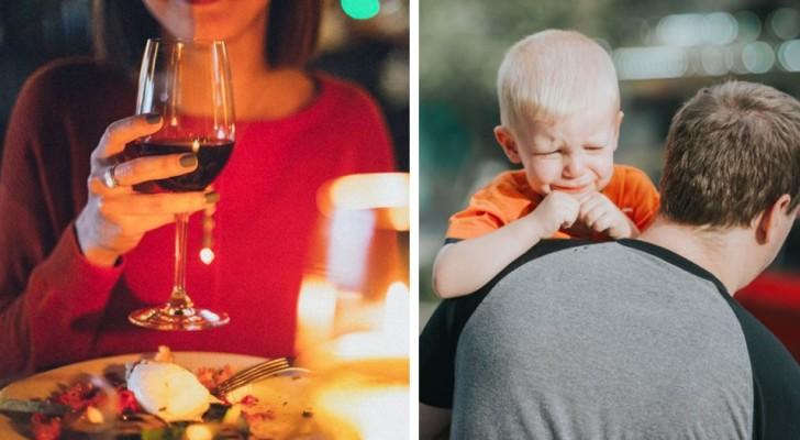 Une jeune femme demande à un couple de quitter le restaurant parce que leur fils pleure et crie trop fort : 'Il gâche mon dîner'