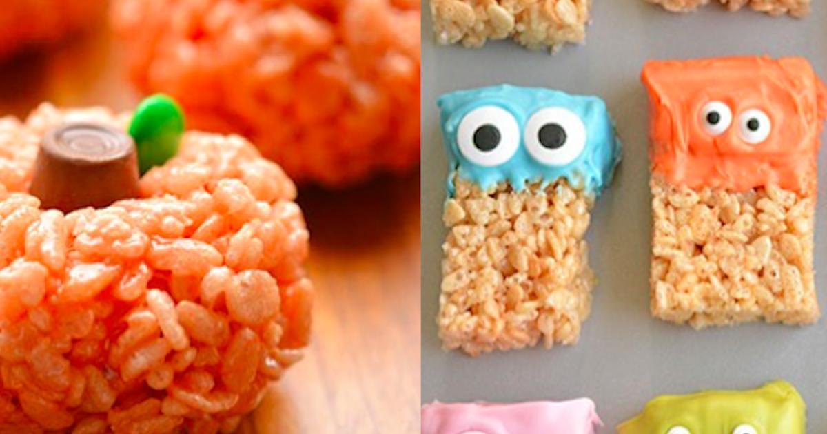 Des délices à base de Rice Krispies pour Halloween
